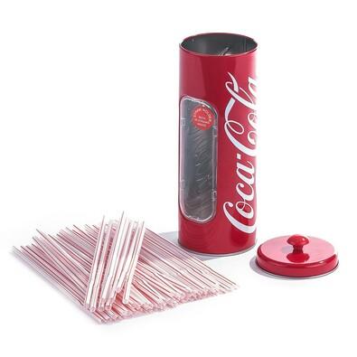 Multifunkční dóza Coca Cola s 50 slámkami