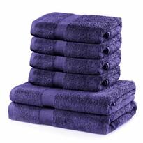 DecoKing Sada ručníků a osušek Marina fialová, 4 ks 50 x 100 cm, 2 ks 70 x 140 cm