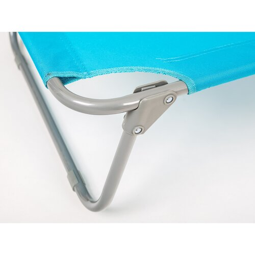 Happy Green Plážové skládací lehátko Sunbay modrá