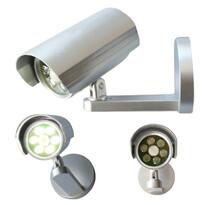 Kamera alakú biztonsági fény mozgásérzékelővel, 6 LED