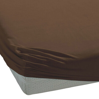 BedTex jersey prostěradlo tmavě hnědá, 180 x 200 cm