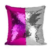 Domarex Poszewka na poduszkę z cekinami Flippy fioletowy, 40 x 40 cm