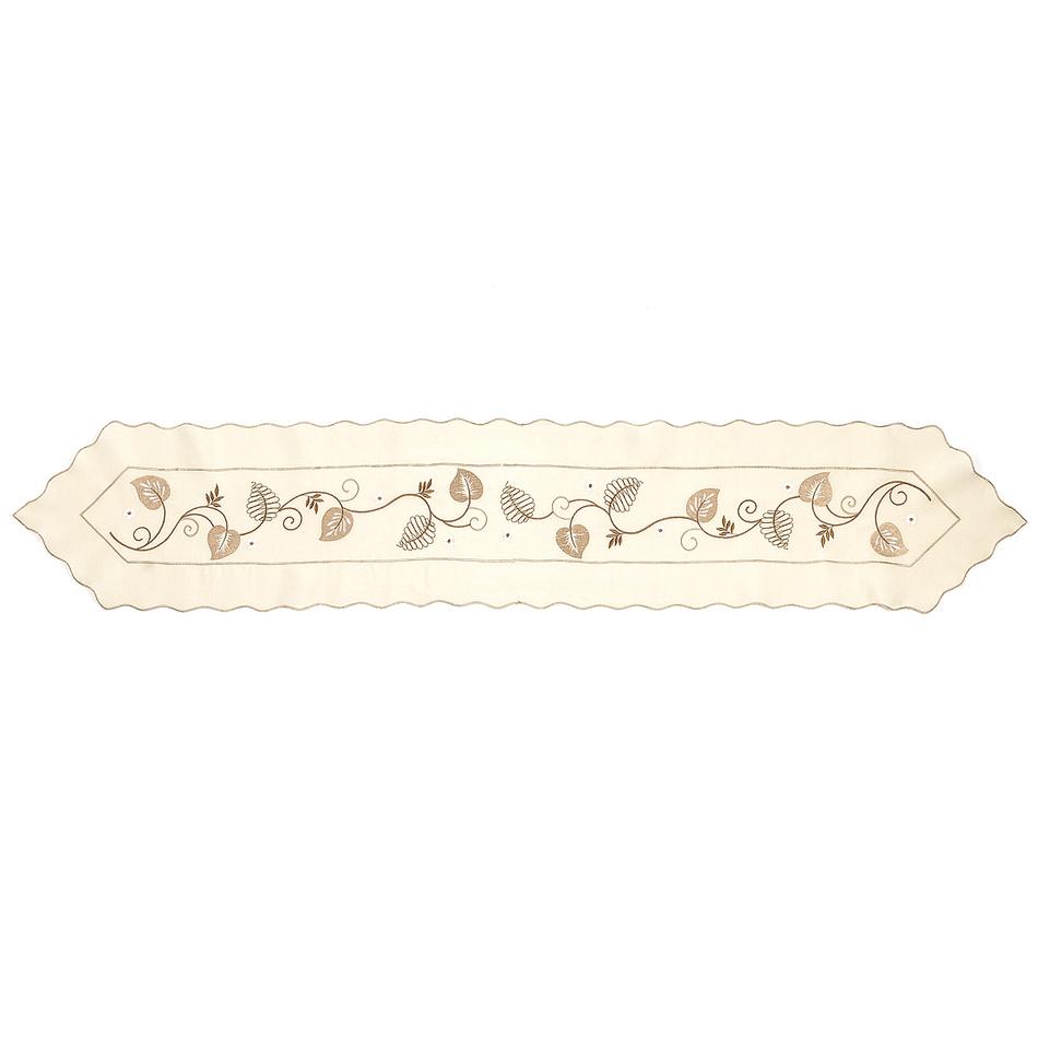 Forbyt Vyšívaný obrus listy, 30 x 160 cm, 30 x 160 cm
