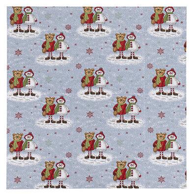 Vánoční ubrus Medvědi, 100 x 100 cm