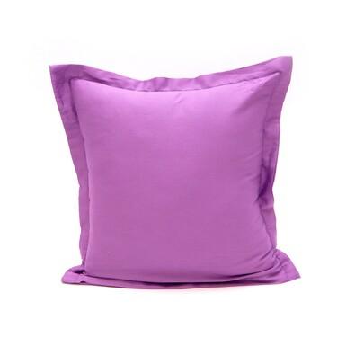 Povlak na polštářek s lemem satén tmavě  fialová, 40 x 40 cm