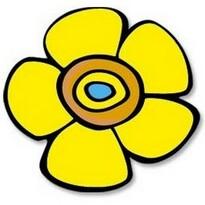 Kisvirág konyhai edényalátét, sárga, 10 x 10 cm
