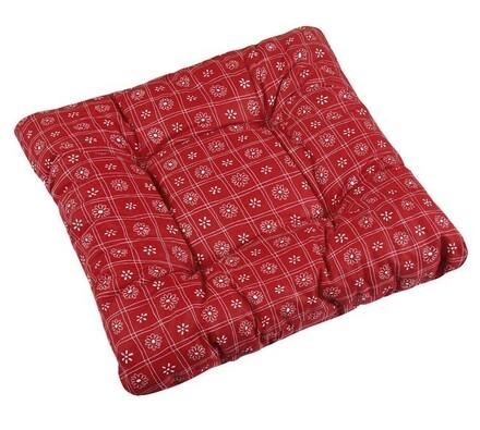 Sedák Adéla červené čtverce, 40 x 40 cm, sada 2 ks