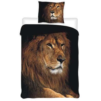 Bavlněné povlečení Lev, 140 x 200 cm, 70 x 90 cm