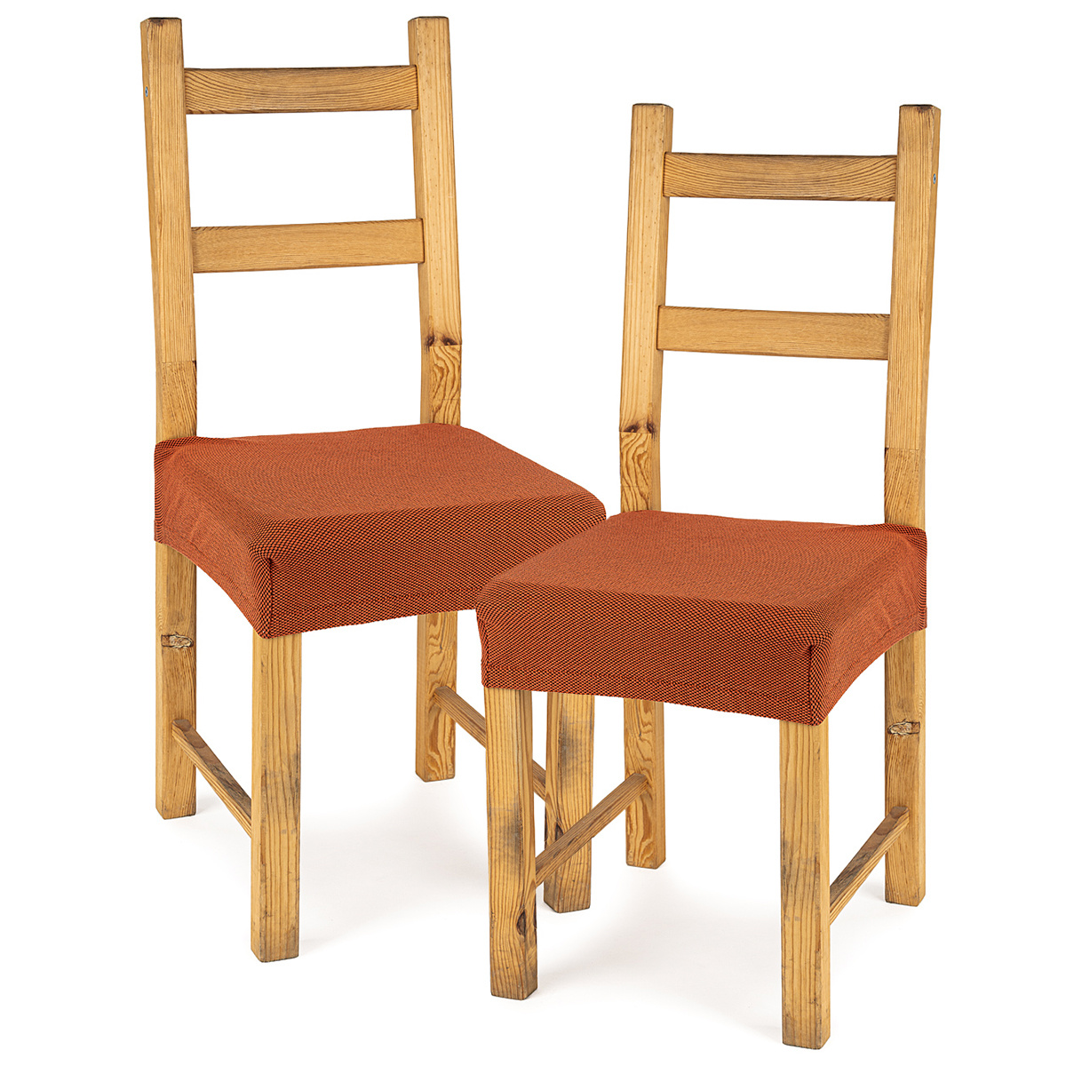 4Home Multielastický potah na sedák na židli Comfort terracotta, 40 - 50 cm, sada 2 ks