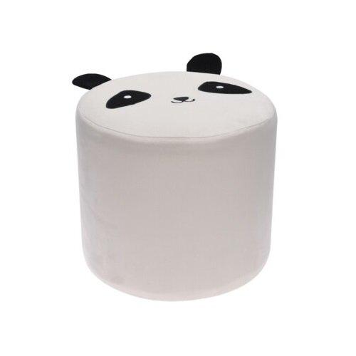 Taburet textil Hatu, panda, 29 x 27 cm