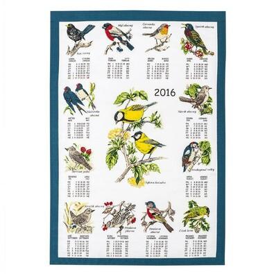 Textilní kalendář 2016 Ptáci, 45 x 65 cm