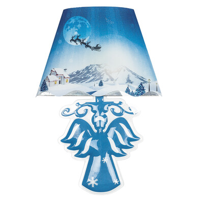 Samolepicí lampa Angel modrá