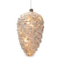 Barletta karácsonyi világító dísz, ezüst