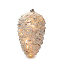 Vánoční svíticí ozdoba Barletta, stříbrná
