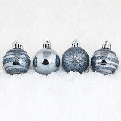 Vánoční koule pr. 8 cm, tmavě modrá