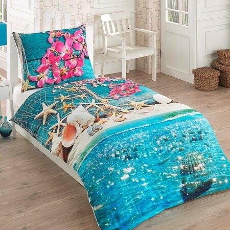 Bavlnené obliečky Sea 3D Exclusive, 140 x 200 cm, 70 x 90 cm