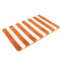 Matějovský Koupelnová předložka SOFT Pruhy  oranžová, 60 x 90 cm