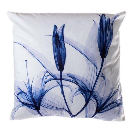 Tulip kék párna, 40 x 40 cm