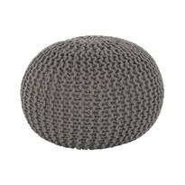 Pletený taburet Gobi 2, hnědo-šedá