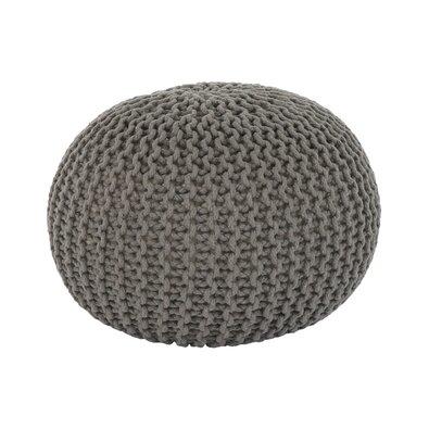 Pletený taburet Gobi 2, šedá