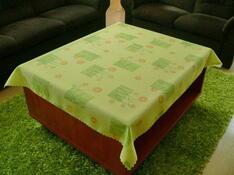 Teflonový ubrus Daisy, zelená, 140 x 160 cm