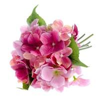 Umelá kytica Hortenzia ružová, 30 cm
