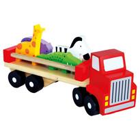 Bino Samochód ciężarowy ze zwierzątkami