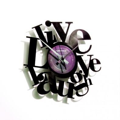 Discoclock 007 Live love laugh nástěnné hodiny