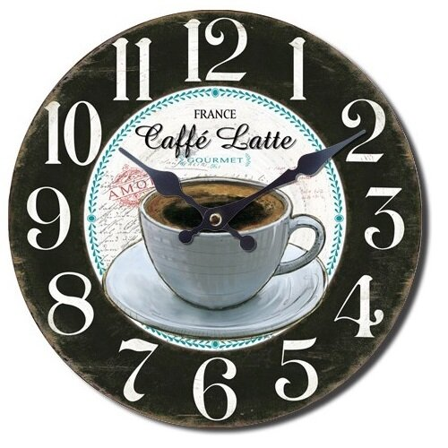 Nástěnné hodiny Caffé latte gourmet, pr. 28 cm