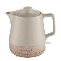 Concept RK0061 ceramiczny czajnik bezprzewodowy 1 l, brązowy