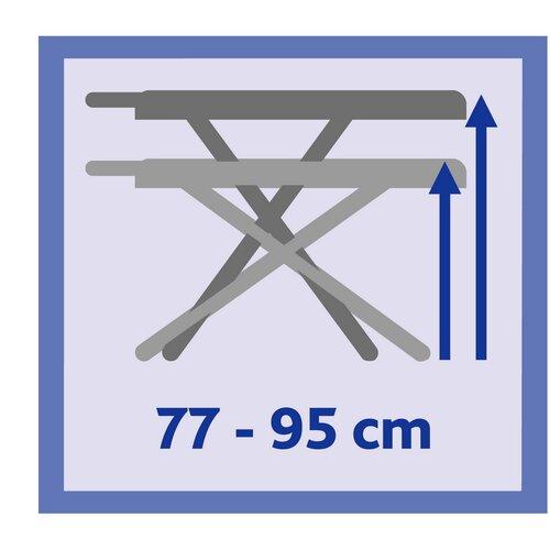 Vileda Perfect 2v1 Plus žehlicí prkno 122 x 44 cm, zelená