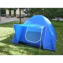 Nawalla Dvouplášťový stan pro 3 osoby modrá, 210 x 210 x 130 cm