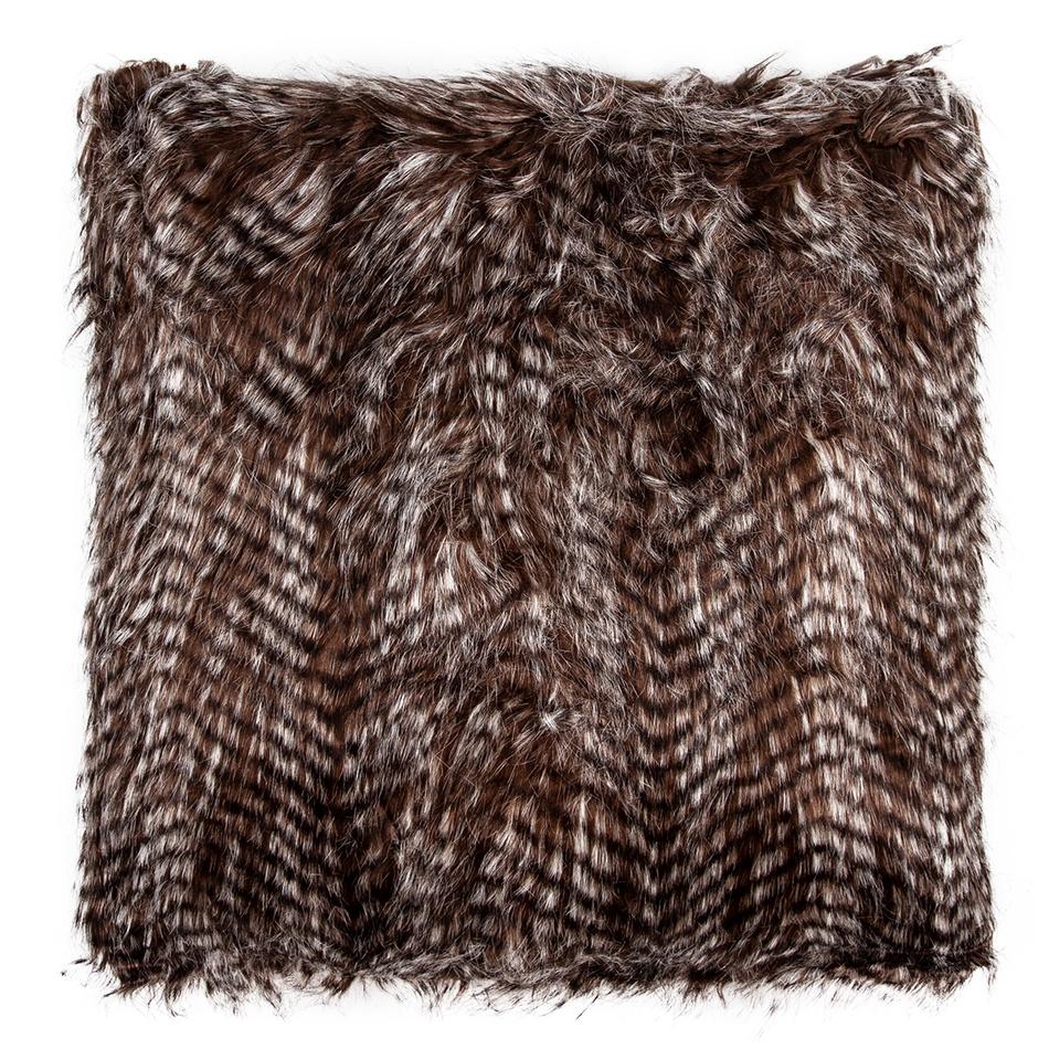 Polštářek žíhaný černá, 45 x 45 cm