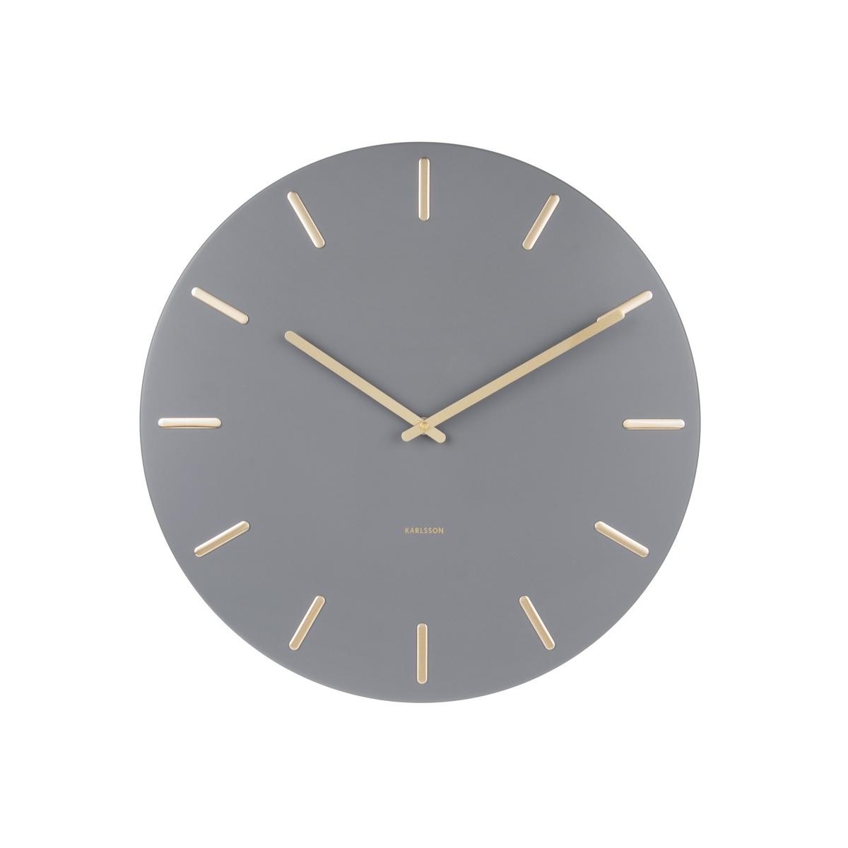 Karlsson 5716GY Designové nástěnné hodiny  pr. 45 cm