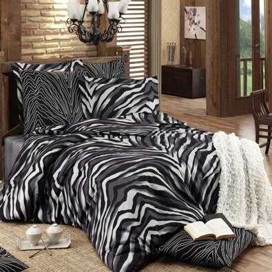 Bavlněné povlečení Bengal černá, 140 x 200 cm, 70 x 90 cm