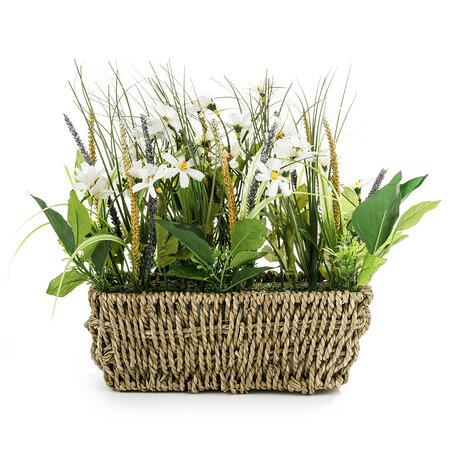 Sztuczne kwiaty łąkowe, białe
