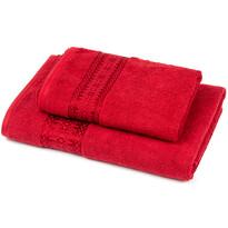 Zestaw Strook ręcznik i ręcznik kąpielowy czerwony, 70 x 140 cm, 50 x 90 cm