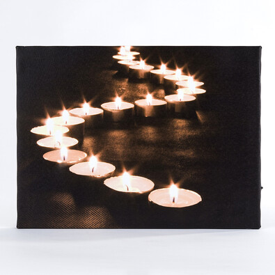 Jednodílný svítící obraz svíčky