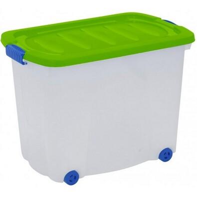 Kaiserhoff Úložný box pojízdný 60 l zelená