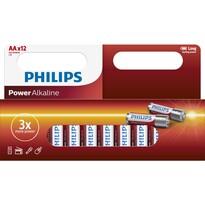 Philips LR6P12W/10 sada alkalických baterií AA, 12 ks