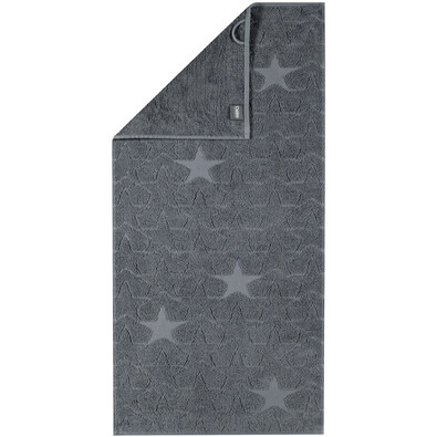 Cawö Frottier ručník Star šedá, 50 x 100 cm