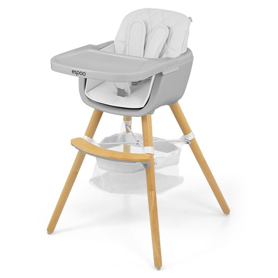 Milly Mally Jedálenská stolička 2v1 Espoo biela, 83,5 x 52 x 52 cm
