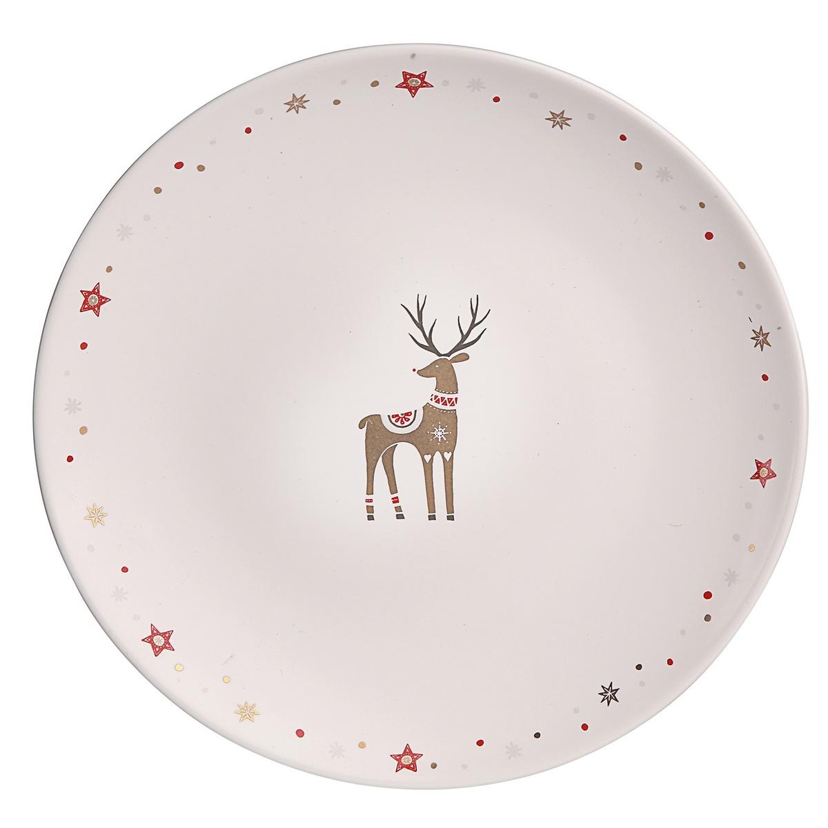 Altom Vánoční porcelánový dezertní talíř, 20 cm