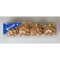 Globuri Crăciun Floare Glitter champagne, diam. 6 cm