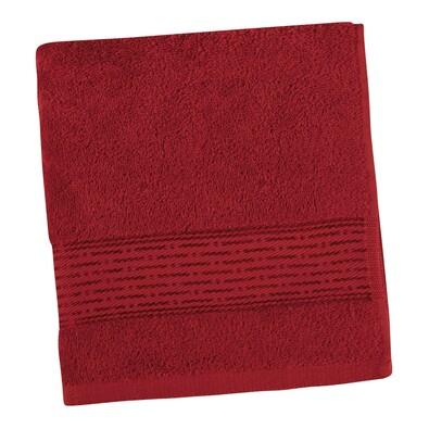 Ręcznik kąpielowy Kamilka Pasek bordowy, 70 x 140 cm