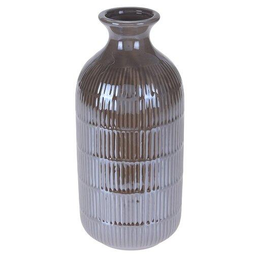 Wazon Loarre brązowy, 10,5 x 22,5 cm