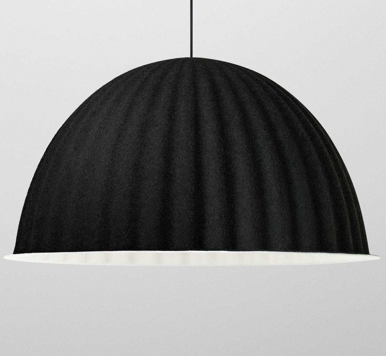 Muuto Závesná lampa Under The Bell 82 cm, čierna