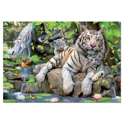 Puzzle Bengálští tygři, vícebarevná