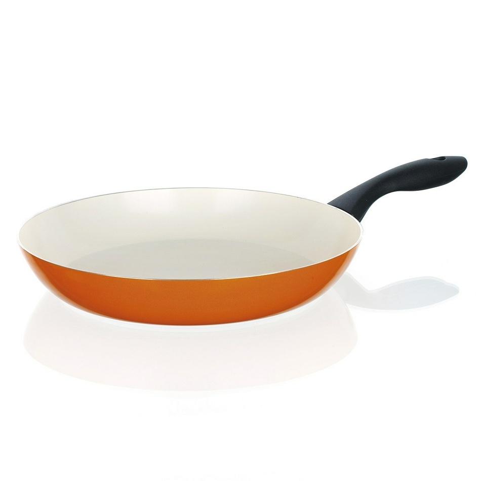 BANQUET Panvica 24 cm oranžová so špirálovým dňom Natura Ceramia, 24 cm