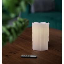 Vosková LED svíčka s dálkovým ovladačem, 8 x 12,5 cm